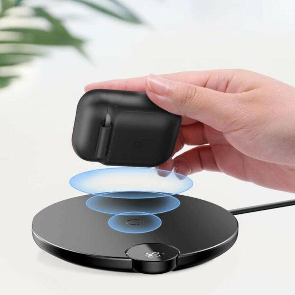 Baseus Siliconen Hoesje Wireless Charging Compatible Airpods - Zwart