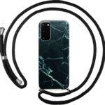 FONU Backcase Met Touwtje Samsung Galaxy S20 - Black Marble