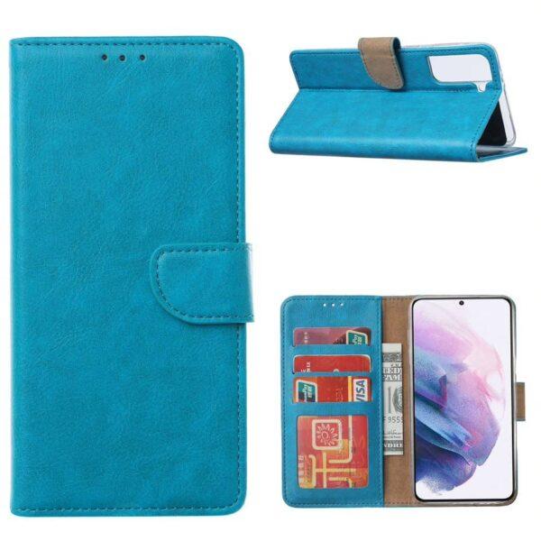 FONU Bookcase Hoesje Samsung Galaxy S21 - Blauw 1