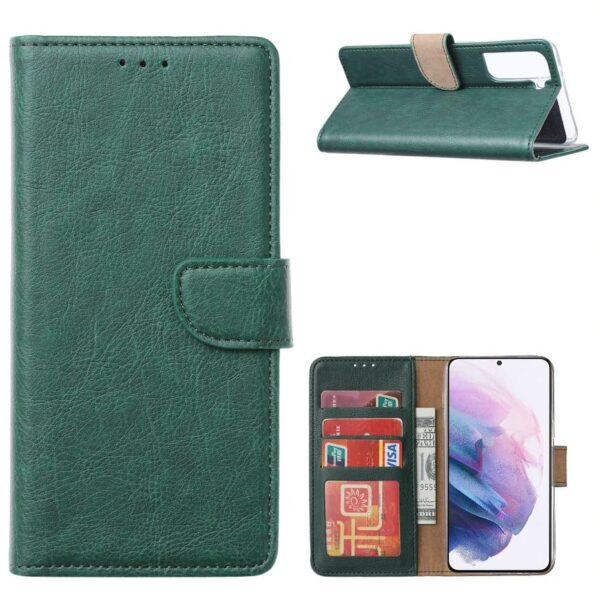 FONU Bookcase Hoesje Samsung Galaxy S21 - Groen 1