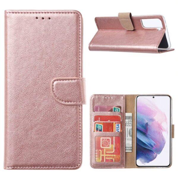 FONU Bookcase Hoesje Samsung Galaxy S21 - Roségoud 1