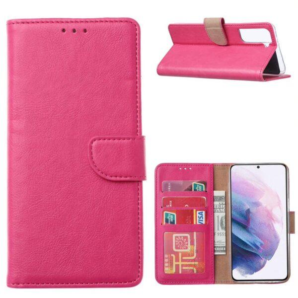 FONU Bookcase Hoesje Samsung Galaxy S21 - Roze 1