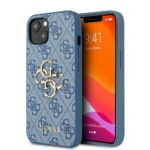 GUESS Golden Logo Backcover iPhone 13 Hoesje – Blauw